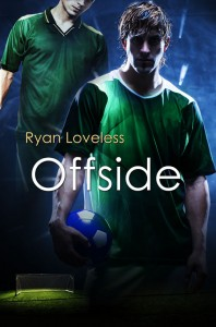Offside cover features two soccer players and a dark blue background