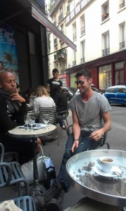 Gay Cafe in Paris with KC Wells