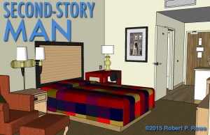 Michael's room and his queen sized bed.