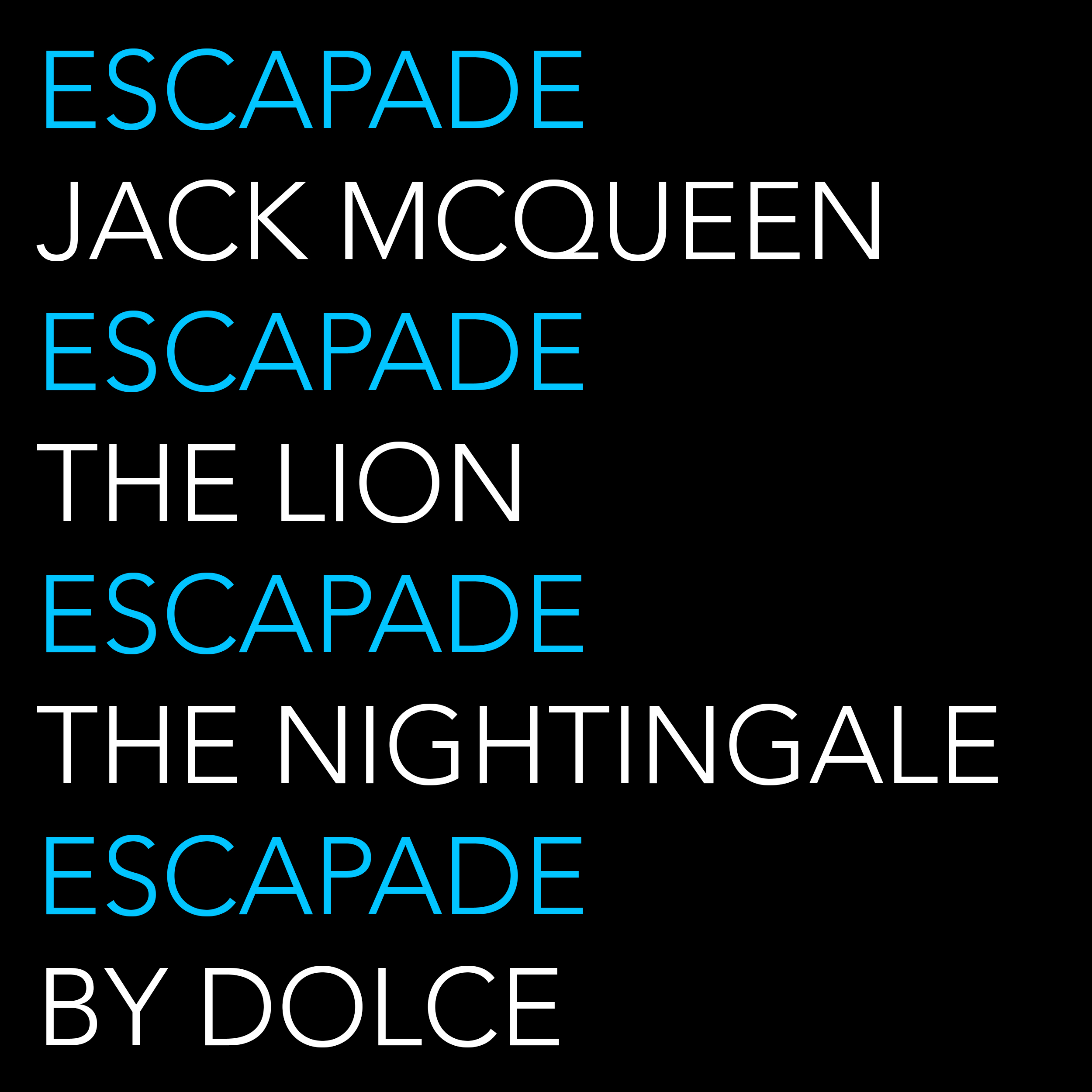 DOLCE Escapade Blue text art